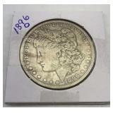 1896 O Morgan Silver Dollar