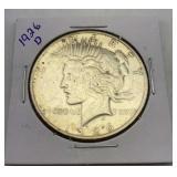 1926 D Silver Peace Dollar