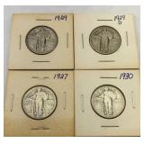 (4) Standing Liberty Silver Quarters