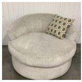 Ashley Fabric Round Swivel Chair