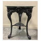 Ornamental Iron Glass top table