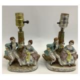 Pair of 9 in Made in Occupied Japan Lamps