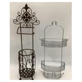 30 in Toilet Paper Holder& Shower Caddy