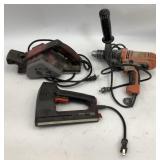 Black & Decker Drill, Planer, Craftsman Stapler