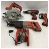 5 pc Old Milwaukee Power Tools