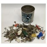 Can of Keys & Keychains