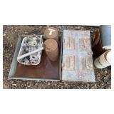 Tins and metal box