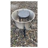 Stainless outdoor planter