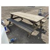 Heavy Duty Wood 10ft Picnic Table
