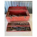 Metal Tool Box & Tools