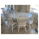 Pedestal Table & 8 Chairs