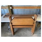 (1) Twin Bed W/rails And Twin Hb Only With Rails