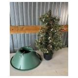 Christmas Tree Stand And Small Tree