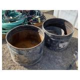 Metal Feed Tubs