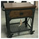 Bayside vintage style rolling kitchen cart