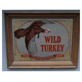 WILD TURKEY Bourbon Whiskey Mirrored Sign