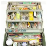 Tackle Box w/ Lures, Hooks and more