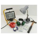 Shop Light, Hammer, Desk Lamp, & more