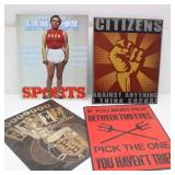 (4) Man Cave Metal Signs
