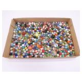Flat of 400 Vintage Marbles & Shooters