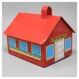 1976 Little Red Schoolhouse- Metal BANK