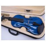 VIOLINSMART.COM Blue Violin in Padded Case