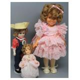 (3) SHIRLEY TEMPLE COLLECTIBLE DOLLS