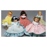 (5) LITTLE WOMEN-Miniature Madame Alexander Dolls