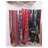Collection of (21) Burgundy, Blue, Green Silk Ties