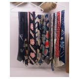 Collection of (20) Red & Blue Silk Neckties