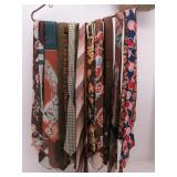 Collection of (18) Brown Tone Silk Neckties