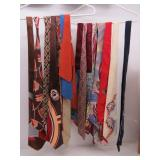 Collection of (17) Brown/Rust & Blue Silk Neckties