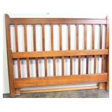 LEGGETT & HALL Wood Panel Slat Queen Bed Frame