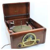 Mid Century ZENITH Tabletop Record Player, Radio