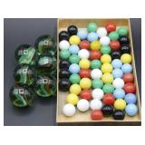 (6) JUMBO MARBLES, Chinese Checkers Marbles..