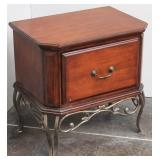 Contemporary Side Table w Wrought iron Legs &..