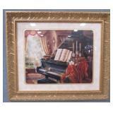 """Amazing Grace"" Judy Gibson Black Piano Art Print"