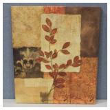 Interiors Design Canvas Leaf Art Print