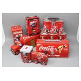 (7) Novelty Coca-Cola Tins