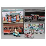 Collectible Coca-Cola 3-D Diner Style Tins, and..