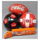 Collection of Coca-Cola Sports Balls & Coca-Cola
