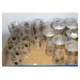 Vintage Libby Silver Maple Leaf Frosted Glasses