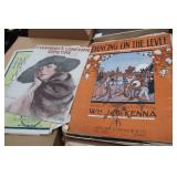 Two Boxes of Old Sheet Music & Piano Books