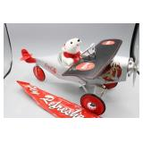 1998 Coca-Cola Pedal Car Airplane w FLY REFRESHED
