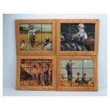 """(4) J. Daly & M. Baynton Boys """"Window Pane"""" Prints"""