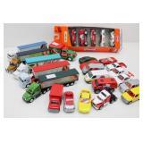 Collection of Coca-Cola MATCHBOX Cars, Semi Trucks