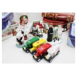 Collection of Coca-Cola Holiday Tins, Cars, Glass