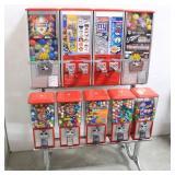 Northwestern 9-Unit Vending Machine-Gum & Toys