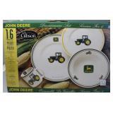 Gibson JOHN DEERE 16Pc Dinner Set Service for 4
