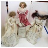Three Gambina Collector Dolls